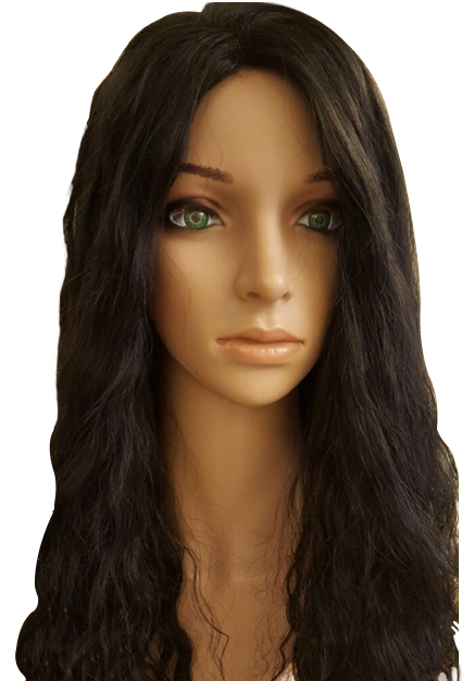 black 21 inch Georgie's 100% human hair perm wig