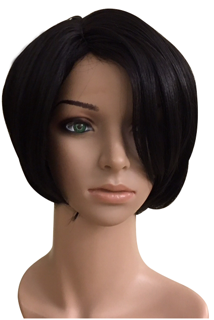 Bob style synthetic wig