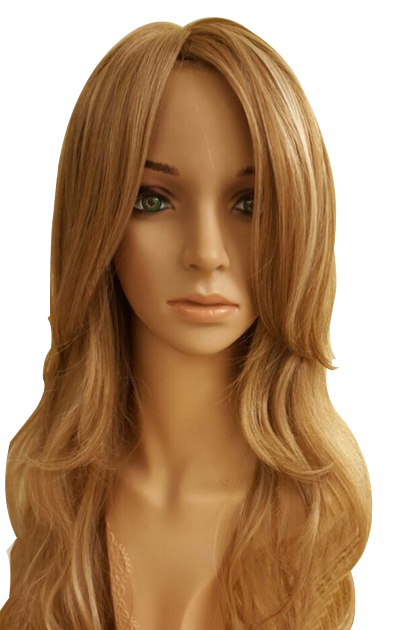 18 inch blond synthetic wig