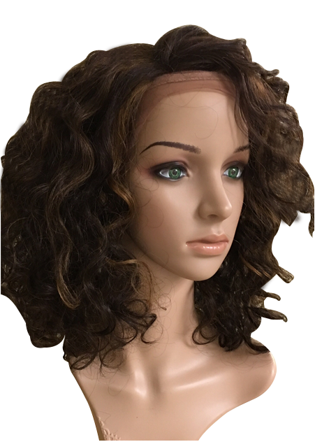 Lace front soft curls synthetic wig