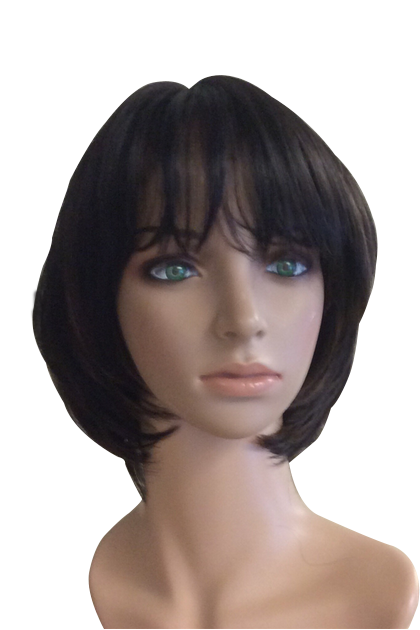 Layered short synthetic wig