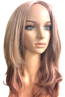 Wavy synthetic wig