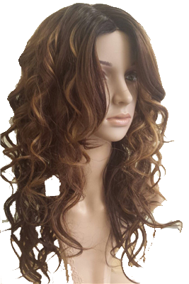 curly synthetic wig