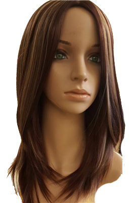 Layered synthetic wig