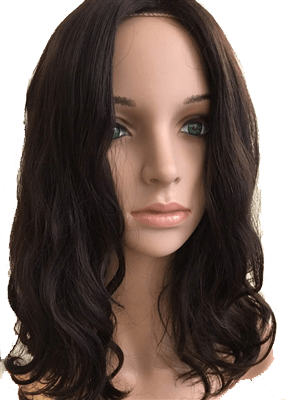 100% human hair wig topper wavy 14 inch