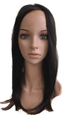 100% human hair mono top wig topper