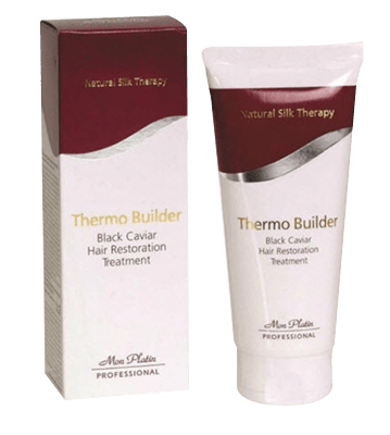 Thermo builder 100 ml natural silk therapy black caviar hair restoration treatment