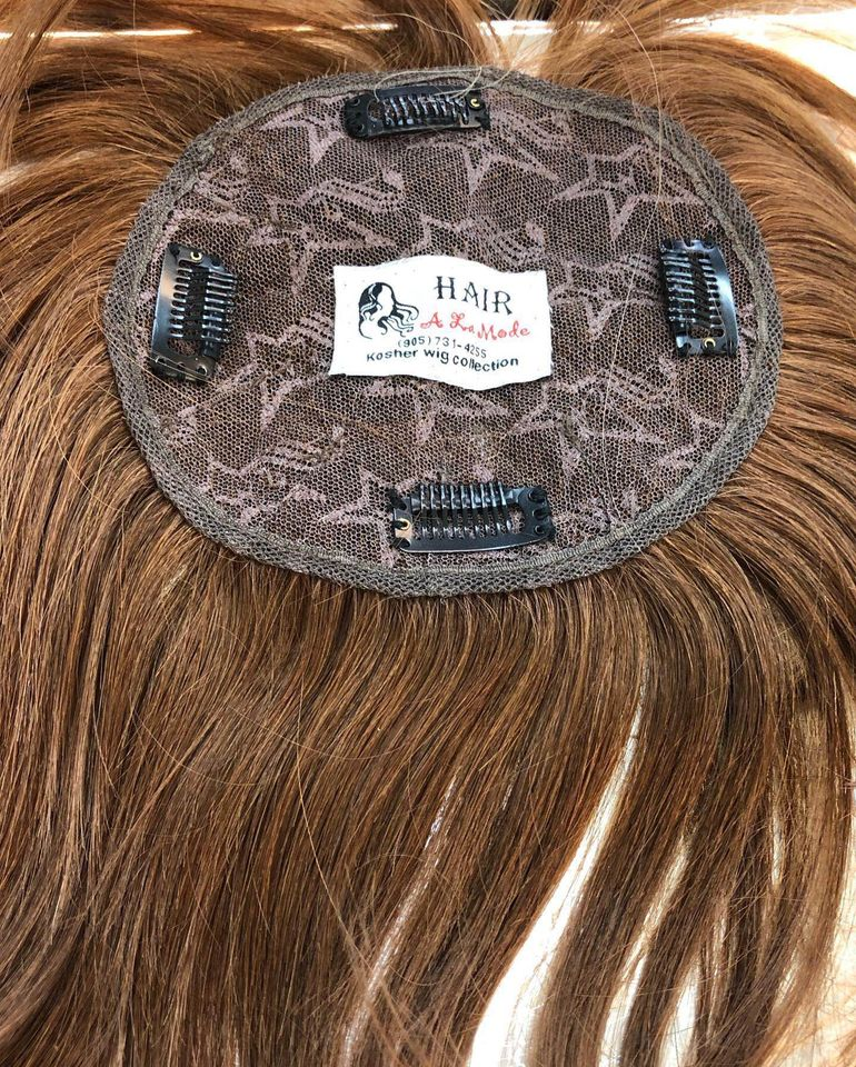 100% human hair wig topper 12 inch full lace