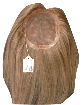 Blond 100% human hair wig topper 10 inch