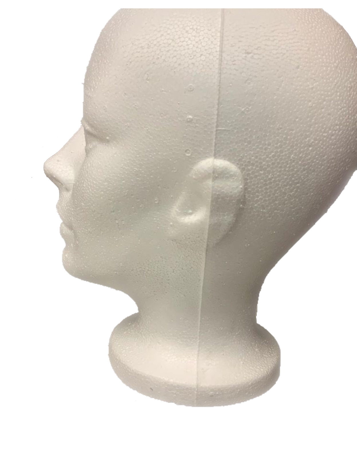 Styrofoam short Mannequin head